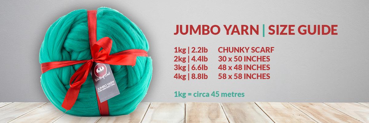 Jumbo Yarn - Size Guide