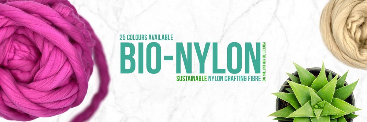 Biodegradable Nylon Fibre for Knitting, Spinning, Blending, Felting and more